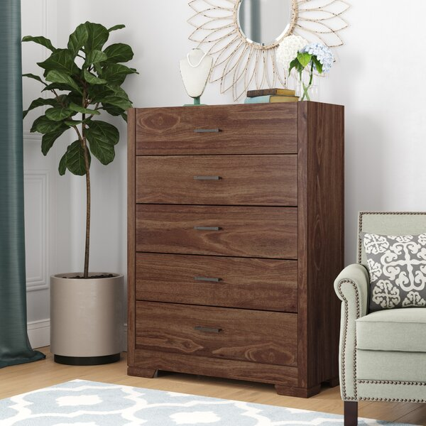 Kimbrough 5 Drawer Chest by Wrought Studio