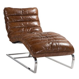 Lebeau Leather Chaise Lounge