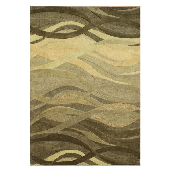 New Zealand Handmade Green Area Rug by Alliyah Rugs