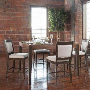 Hazelden 5 Piece Pub Table Set ByGracie Oaks