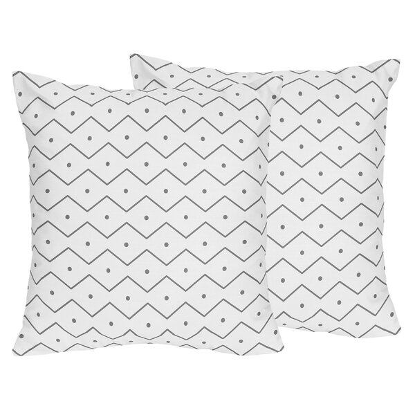Mod Dinosaur Chevron Prehistoric Throw Pillow (Set of 2) by Sweet Jojo Designs