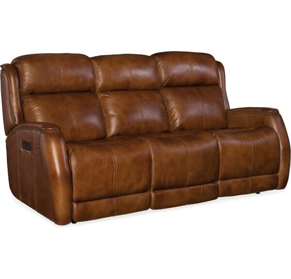 Great Selection Emerson Leather Reclining Sofa by Hooker Furniture by Hooker Furniture