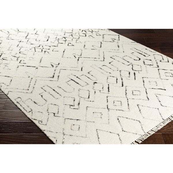 Boling Hand-Woven Neutral/Black Area Rug by Union Rustic