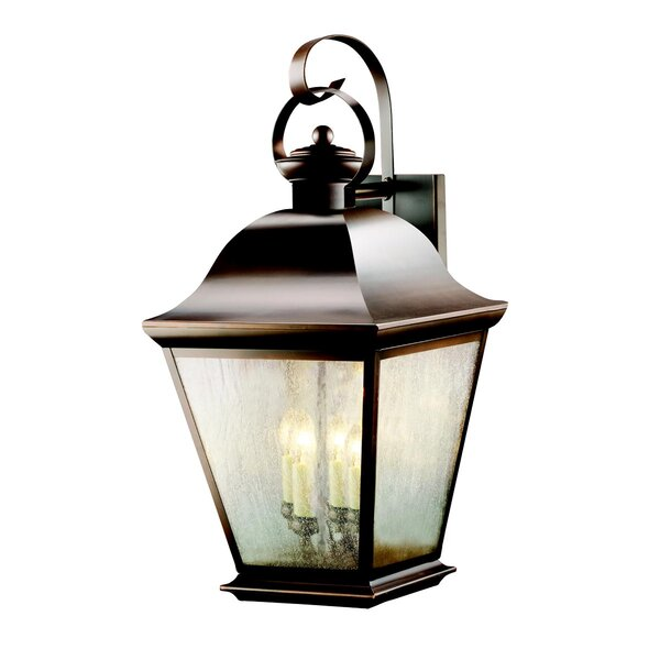 Larchmont 4-Light Glass Shade Outdoor Wall Lantern by Darby Home Co