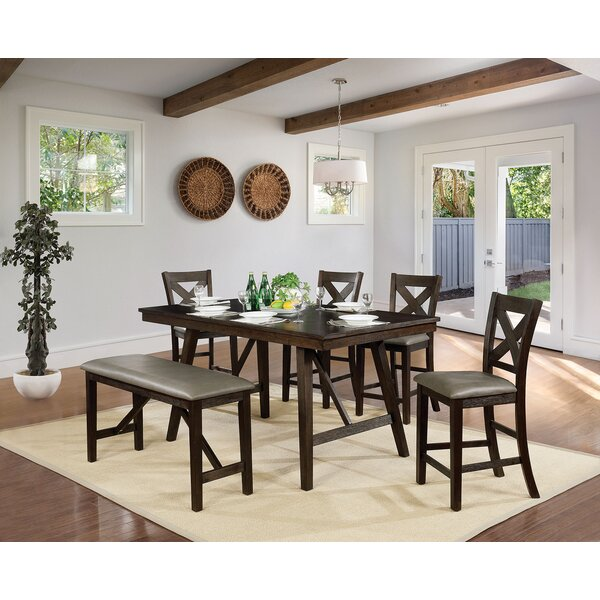 Floodwood 6 Piece Counter Height Dining Set by Gracie Oaks