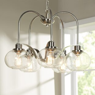 Best Reviews Defeo 5-Light Shaded Chandelier By Mercury Row