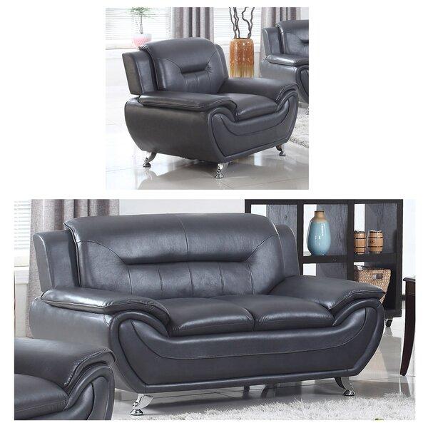 Gatto 2 Piece Living Room Set by Orren Ellis