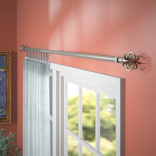 Swearingen Single Curtain Rod and Hardware Set by Three Posts