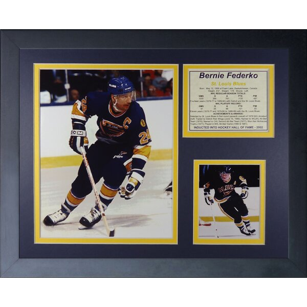 Bernie Federko Framed Memorabilia by Legends Never Die