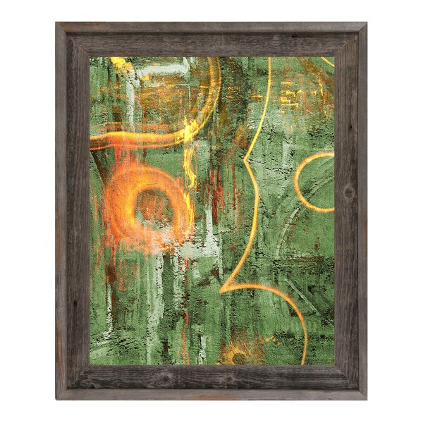 Impoverished Viridian Beauty Framed Painting Print on Canvas by Click Wall Art