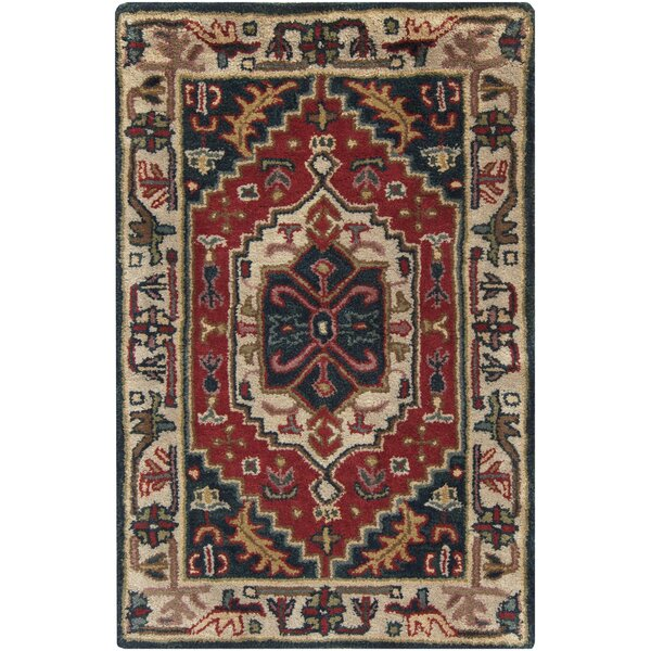 Morales Beige/Ruby Area Rug by World Menagerie