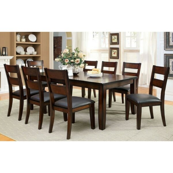 McFetridge Transitional 9 Piece Solid Wood Dining Set by Millwood Pines