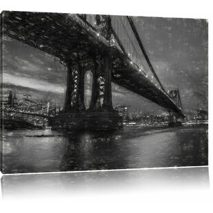 Wonderful Manhattan Bridge, New York Wall Art On Canvas