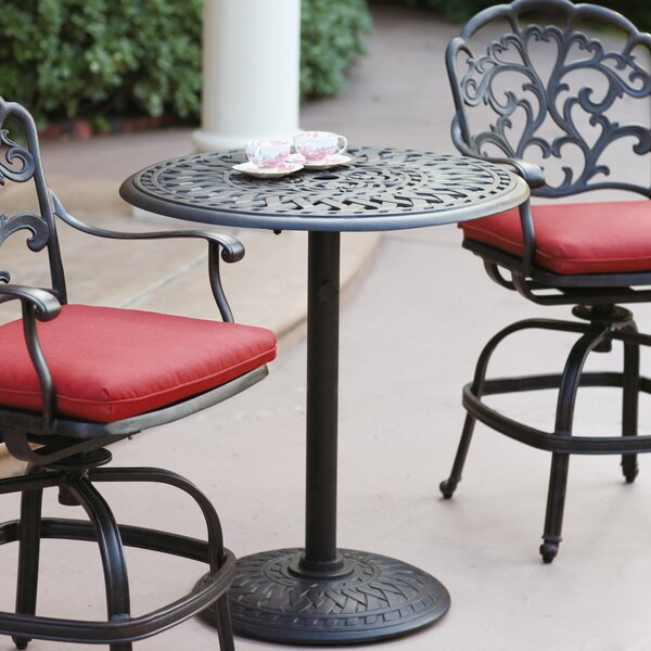 Henriqueta Aluminum Bar Table by Fleur De Lis Living