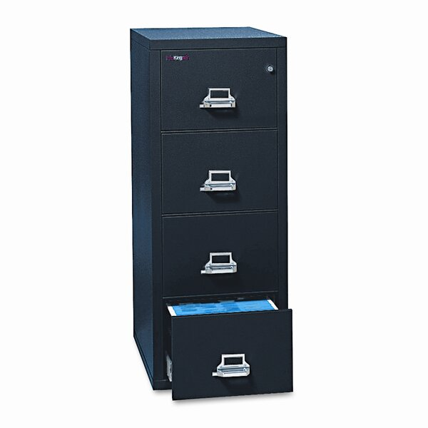 Fireproof Insulated 4-Drawer Vertical File by FireKing