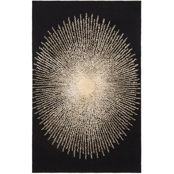 Olivarria Hand-Tufted Black/Beige Area Rug by Orren Ellis