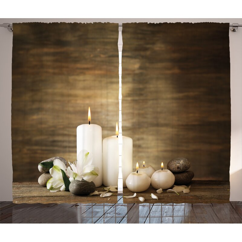 east urban home spa composition of pure candles wooden background
