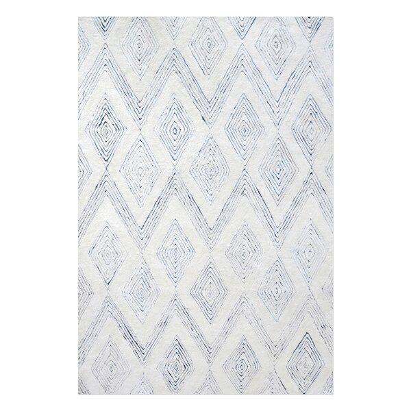 Nickell Hand-Tufted Wool Ivory Area Rug by Brayden Studio