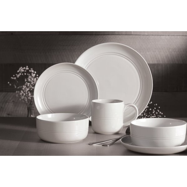 Tamara Stoneware Ridge 16 Piece Dinnerware Set, Service for 4 by Ebern Designs