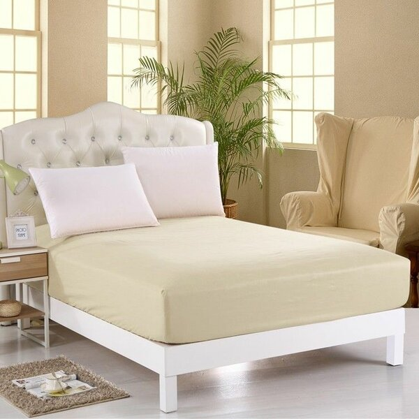 400 Thread Count Egyptian Quality Cotton Fitted Sheet by Scala Home Fashions Inc.