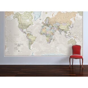 U0027Classic World Mapu0027 Graphic Art Print