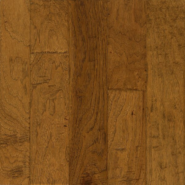 Frontier 5 Engineered Hickory Hardwood Flooring in Golden Brown by Armstrong Flooring
