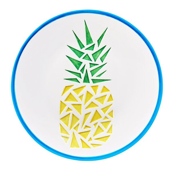 Paradise Ceramic Platters in Pineapple by Global Amici