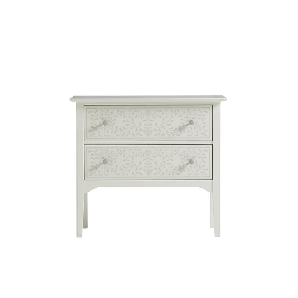 Stenciled 2 Drawer Chest by YoungHouseLove YoungHouseLove