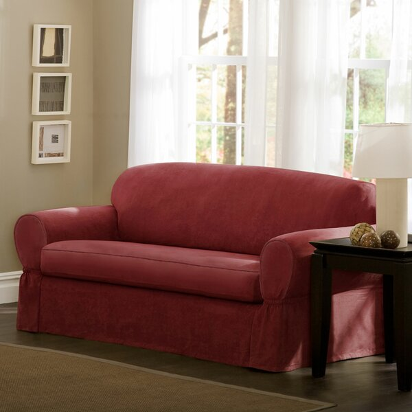 Bearup Barras Box Cushion Loveseat Slipcover By Darby Home Co
