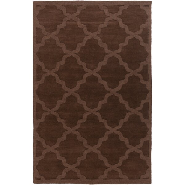 Blankenship Brown Geometric Abbey Area Rug by Charlton Home