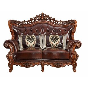 Misael Leather Loveseat