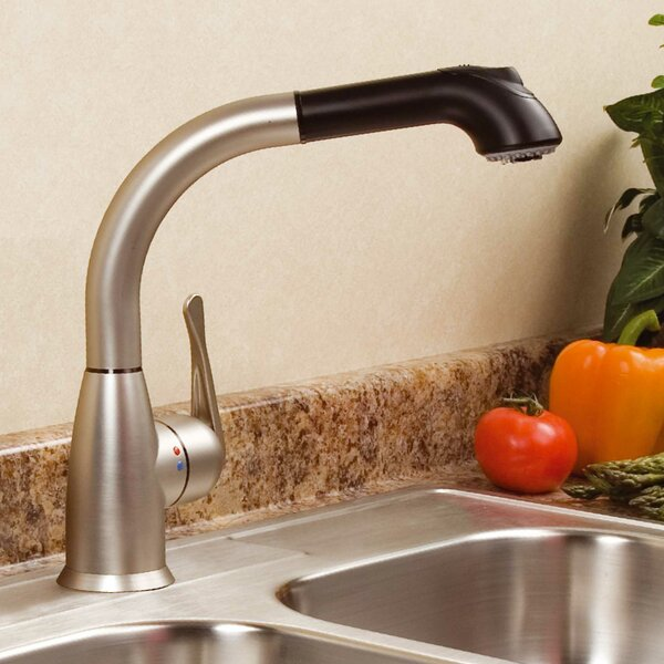 Lily Pull Out Single Handle Kitchen Faucet by cleanFLO