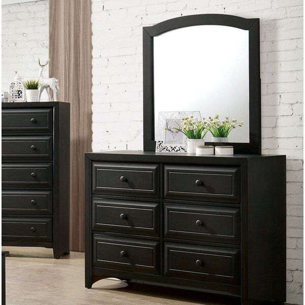 Lawrence 6 Drawer Double Dresser with Mirror by Enitial Lab