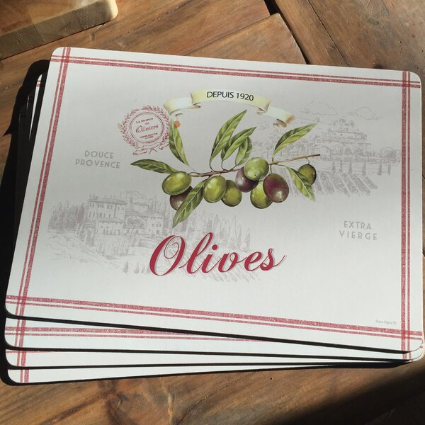 Olive Garden Premium Placemat (Set of 4) by Whole House Worlds