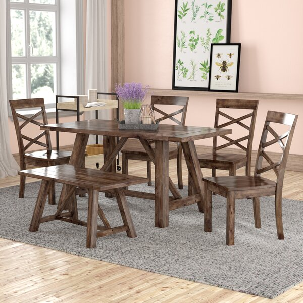 Best #1 Bailee 6 Piece Dining Set By Laurel Foundry Modern Farmhouse Coupon