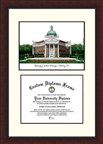 NCAA Southern Mississippi Legacy Scholar Diploma Picture Frame by Campus Images
