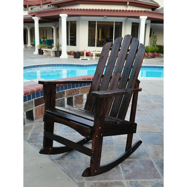 Janes Solid Wood Rocking Adirondack Chair by Breakwater Bay Breakwater Bay