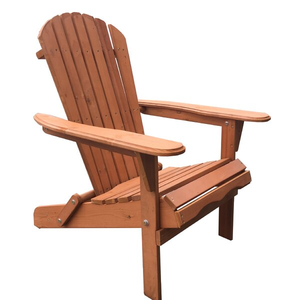Arana Solid Wood Folding Adirondack Chair (Set of 4) by Breakwater Bay Breakwater Bay