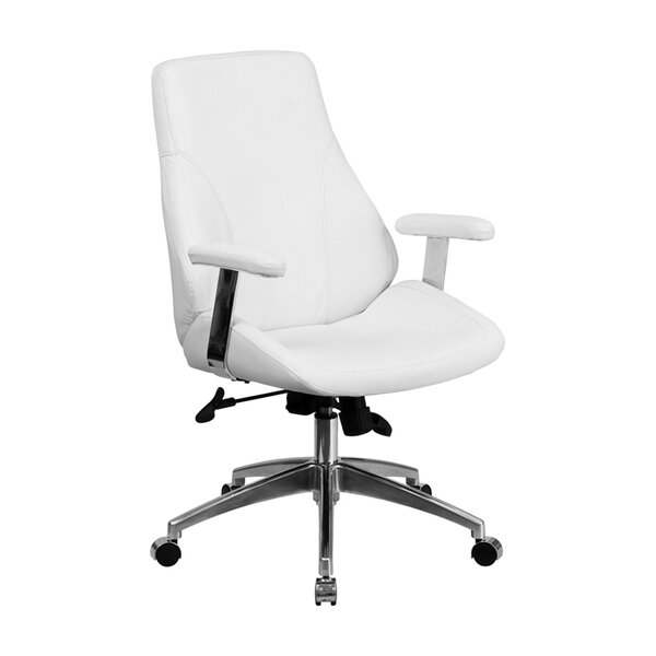Marlboro Executive Swivel Mid-Back Leather Desk Chair by Latitude Run