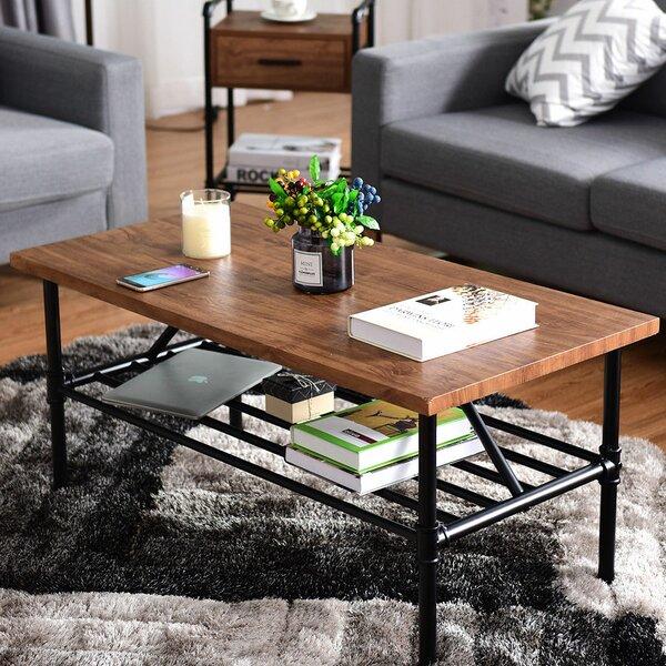 Cheney 2 Tier Coffee Table with Storage Shelf by Williston Forge