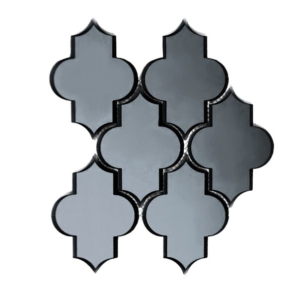 Echo Small Lantern 4 x 5 Glass Mosaic Tile in Graphite by Abolos