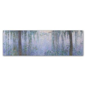 'The Water Lillies Clear Morning With Willows' Print on Wrapped Canvas by Trademark Fine Art