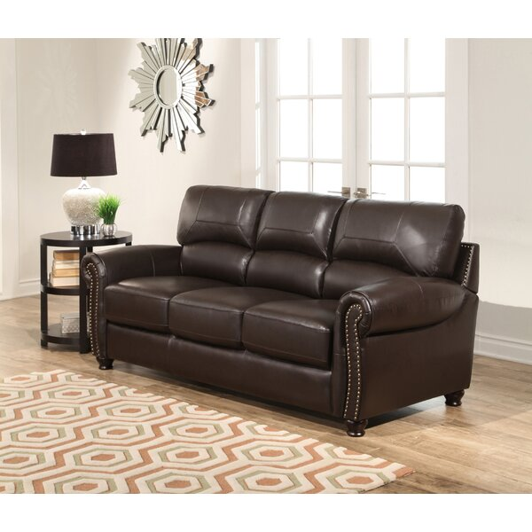 Chic Boley Leather Sofa by Fleur De Lis Living by Fleur De Lis Living