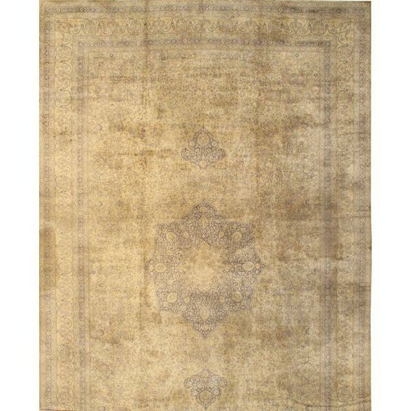 Tutkish Hand-Knotted Wool Ivory Area Rug by Pasargad NY