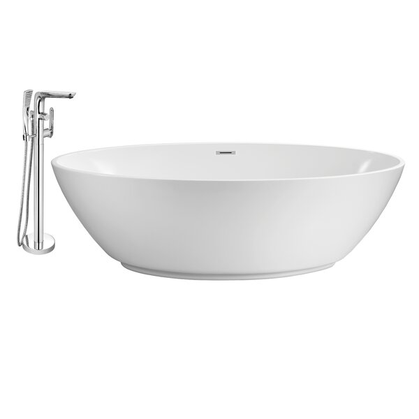63 x 32 Freestanding Soaking Bathtub by Wildon Home ®