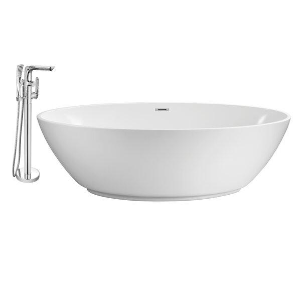 63 x 32 Freestanding Soaking Bathtub by Wildon Home ®