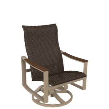 Brazo Woven Swivel Action Patio Chair by Tropitone