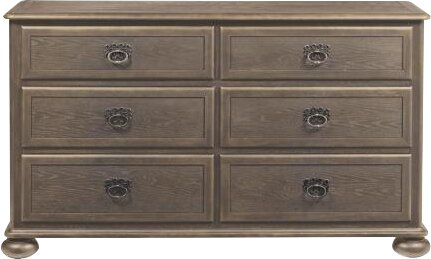 Belgian 6 Drawer Double Dresser by Bernhardt