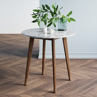 Drubin Marble Laminate Solid Wood Dining Table