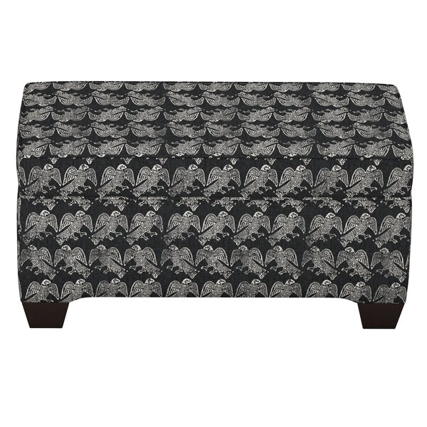 Faye Linen Upholstered Storage Bench by Bloomsbury Market
